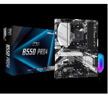 Материнская плата для AMD AsRock B550 PRO4 4xDDR4 2х M.2 sata/NVMe + m.2 for wi-fi/bt USB Type-C