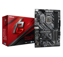 Материнская плата для Intel AsRock Z490 PHANTOM GAMING 4 4xDDR4 1х M.2 sata/NVMe + m.2 for wi-fi/bt Type-C