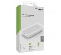 Портативный аккумулятор Belkin 20000A, 30W PD USBC IN/OUT, USBA OUT, WHT