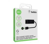 Адаптер Belkin USB-C to Gigabit Ethernet Adapter, 0.15m, black