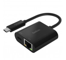 Адаптер Belkin Charge USB-C to Ethernet 60W PD, black