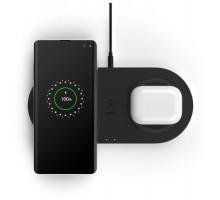 Беспроводное ЗУ Belkin Wireless charging  Dual Pad Wireless Charging Qi, 2x 10W, black